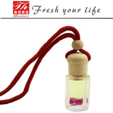 Crystal glass bottle air freshener hanging car fragrance