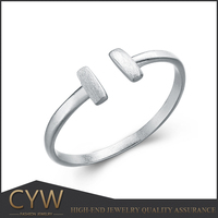 CYW ebay hot no minimum order quantity opening South Korea style silver ring jewelry wholesale