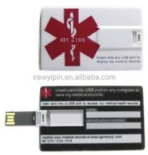 Credit Card Style Medical Alert ID EMR Flash USB EHR (Electronic Health Records)