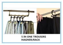 Magic Trousers rack/Pants hanger/framework/iron craft/multilayer/wardrobe/closet/folder