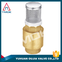 check valve for pipe series iron ball with polishing and nicekl-plated cast brass body with compression three way with check