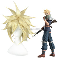 Final Fantasy 7/Cloud Strife short 35cm Light Gold synthetic hair cosplay wig