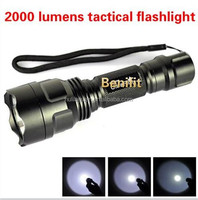 HOT Emergency 5 Modes Cree Xm-l T6 Led Strong Light Flashlight C8/ LED tactical hunting
