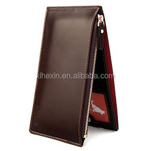Men's Smooth Practical Multi-card Positions Thin Vertical-section PU Wallet