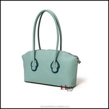 Light green long handle tote bag shoulder bag for women