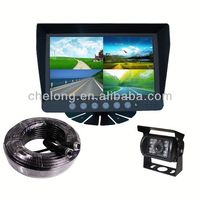 7inch high-powered IR LED 17 inch car monitor with tv usb sd fm