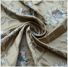 Jacquard fabric curtain with high density soft textiles
