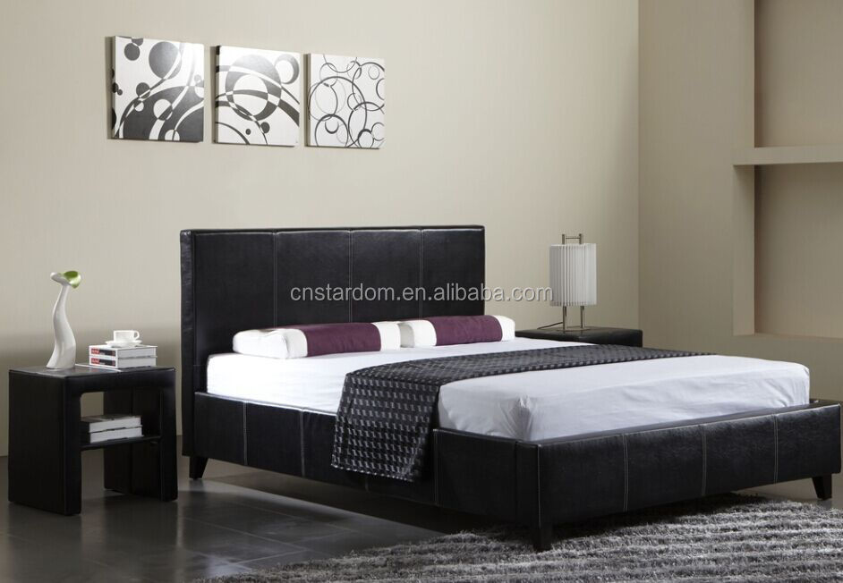 Cheap King Size Bedroom Sets Leather Bed Wholesale B025   Buy Leather .