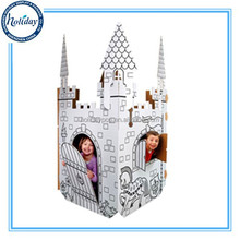 Children Intelligence Toy Cardboard House Paper House For Kids Cardboard Play House