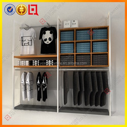 Wood/Metal cloth Display furniture for clothing store