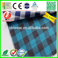 Hot sale soft 100 cotton yarn dyed woven fabric factory