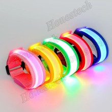 Flashing LED Light Glow Wristband With Customized Logo For Night Club, Pubs, Concert, Holiday, Night Racing