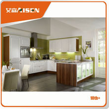 Excellent factory directly latest pvc beech hotel wood kitchen furniture