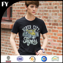 Wholesale plain round neck t-shirt fashion design men's high quality plain t-shirt