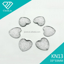 KN13 heart star dust 33*33 flat back sew on acrylic rhinestones for fashion decoration, craft making, garment bags accessories
