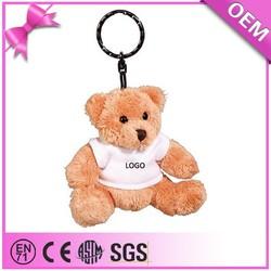 Promotion gift high quality cheap custom teddy bear, plush teddy bear keychain