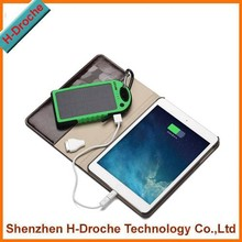 polymer Lithium ion solar power bank 5000mah mobile power bank for mobile phone with solar power 1.2W
