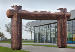 Factory outlet inflatable wood winter arch finish arch, inflatable start/cheap inflatable arch for sale