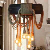 real tyre pendant lighting hand made hemp rope chandelier 2015 new arrival vintage lamp
