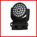 10 w 36 unids rgbw 4in1 led cabeza móvil / wash led iluminación principal móvil
