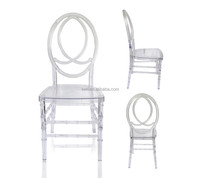 crystal clear wedding chair, resin phoenix chair