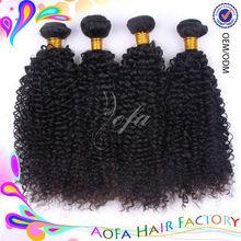 Hot selling 6A grade virgin human afro kinky hair for braiding