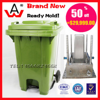 120L plastic waste bin used mold for sale