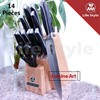 14 Piece forged kitchen knife set/complete utensil sets