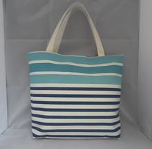Stripe Fashion Canvas Trade Show Tote Bags HD2048