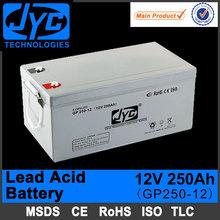 12v 250ah powerful sealed lead acid battery for regeneration system