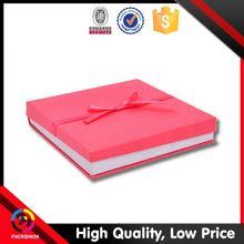 New Style Custom Printed Ribbon Packing Cute Velvet Ring Box