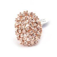 Affordable Fashion Magazine Elliptic Shape Alloy Rhinestone Women Rings SP-JZ-72630 Oval Hollow Ring Gold
