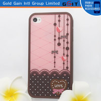 Cute Pink 3 in 1 Mobile Phone Hard Case For Iphone 5C
