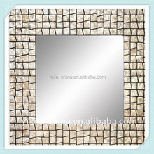 60*60cm Rectangle Shell Mosaic Framed Wall Mirror/Mosaic Glass Mirror Bedside Tables/Mosaic Glass Mirror