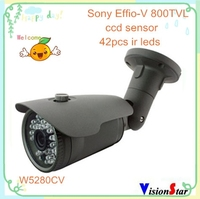 High resolution ip66 waterproof outdoor security ir metal analog camera with super wdr ccd sony 800tvl day night vision