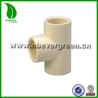 ASTM D2846 CPVC FITTINGS EQUAL TEE FOR COLD OR HOT WATER SUPPLY