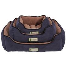 luxury coral fleece dog bed