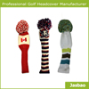 Wool Knitted Golf Club Head Covers Europe Style Golf Head Cover
