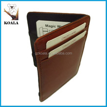 Guangzhou Koala genuine leather pu men magic wallets