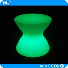 Graceful and illuminated plastic LED lighted table / rechargeable 3D RGB LED glow light table