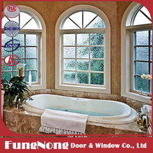 Aluminum Framed Frosted Glass Window For Decorative Bathroom Windows