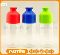 2015 Wholesale sports Plastic Water Bottle with custom Logo / Plastic Water Bottle With Ice Cube