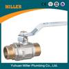 Brass Ball valve double male thread long handle valve/pvc-u valve