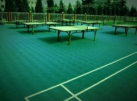 Waterproof table tennis court mat in Artificial Grass and pvc Sports Flooring