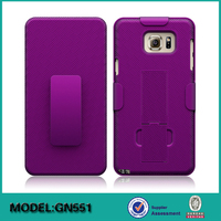 2 in 1 Multi-color Belt Clip cell phone Case cover for Samsung galaxy Note 5