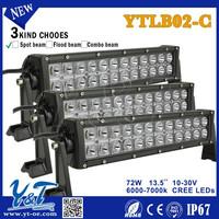 China supplier High Lumens Auto 72W Led Work Light off road led lighting bar led motorcycle headlight