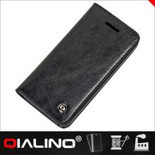 2014 Latest QIALINO genuine leather flip cell phone cover for apple 5 for iPhone 5s
