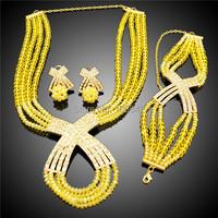 beautiful design splendid beads jewelry set/ attractive unique wholesale beads jewelry set