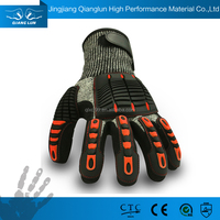 Cut resistant finger protection gloves with nitrile coating