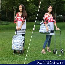 New Fashion Runningjoys Folding Shopping trolley bag with EVA wheels